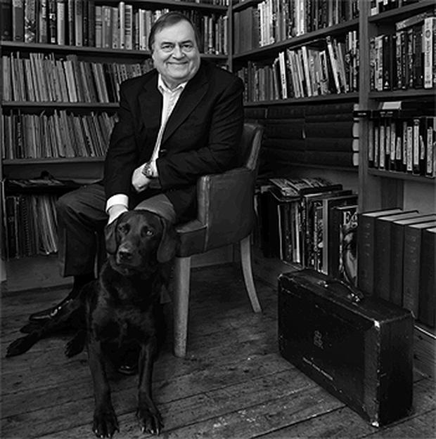Former British Deputy Prime Minister John Prescott with his dog Oscar. Photo: PA
