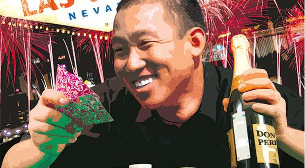 Anthony Kim knows how to celebrate, with money no object as the bubbly flows.