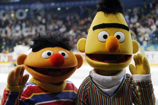 Bert (right) with his friend Ernie. Photo: Getty Images