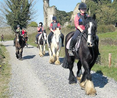 New riders learn the ropes during a lesson at Athlone Equine Centre