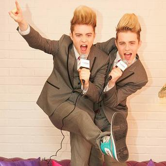 John and Edward Grimes aka Jedward hope to get Christmas number one
