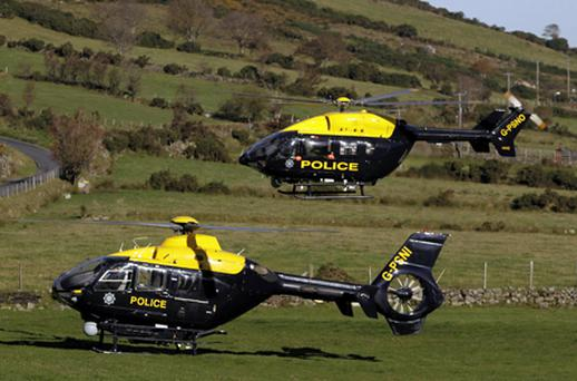 It is unclear which of these two police helicopters was the one involved in the incident. Photo: PA