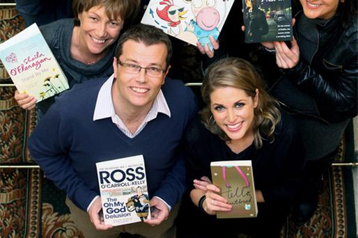 Shortlisted authors (clockwise from top left): Benji Bennett, Donal Skehan, Alan Monaghan, Niamh O'Connor, Amy Huberman, Paul Howard, Sheila O'Flanagan and Niamh Sharkey