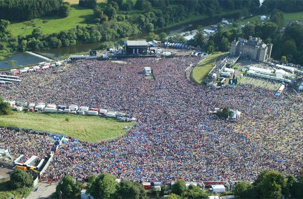 80,000 people showed up in 2003 to see the Red Hot Chili Peppers headline. Photo: Kyran O'Brien