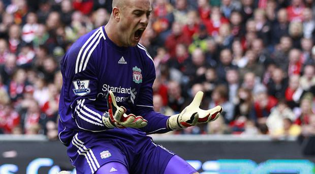 Liverpool goalkeeper Pepe Reina is not leaving Anfield according to manager Roy Hodgson. Photo: Reuters