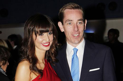 TIGHTLIPPED: Both Ryan and Aoibhinn Ni Shuilleabhain were very guarded when asked on Wednesday night about the status of their on-off relationship. Photo: Kyran O'Brien