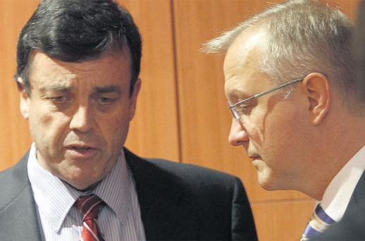 INDEPENDENCE, WITHIN APPROVED LIMITS: Was this the moment that Olli Rehn explained to Brian Lenihan what Fianna Fail's economic policy would be?