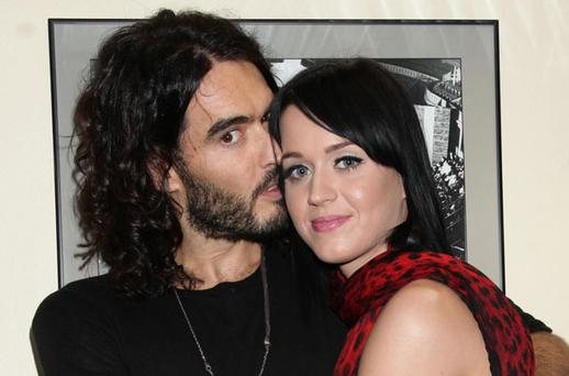 Katy Perry with Russell Brand. Photo: PA