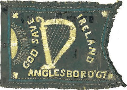 The Fenian flag commissioned in 1867