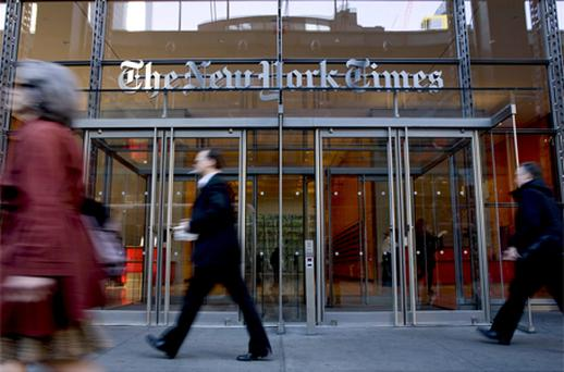 Times Co is offering debt for the first time since borrowing $250m from companies controlled by Slim in January 2009. Photo: Bloomberg News
