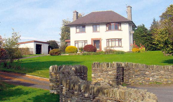 This two-storey farmhouse is adjacent to the yard and both make up lot one on 42ac. Lot two is 25ac adjoining Rathsallagh Golf Club