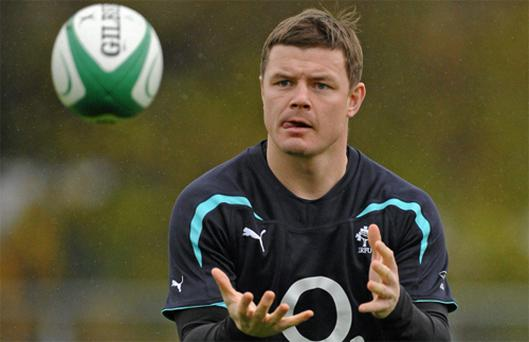 Brian O'Driscoll in action during squad training ahead of the game against South Africa. Photo: Sportsfile