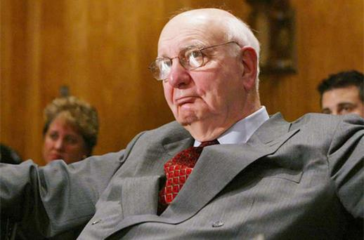 Former Federal Reserve chairman Paul Volcker hinted at investor concerns about inflation risks. Photo: Bloomberg News
