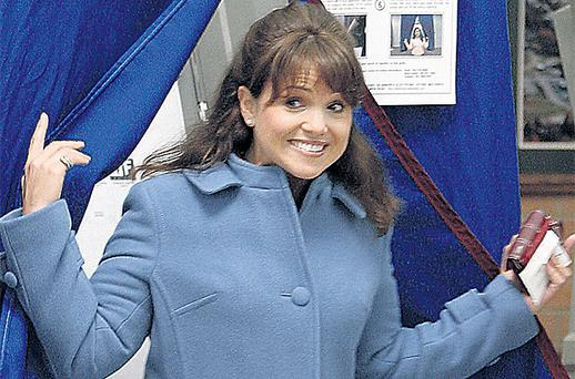 Republican candidate Christine O'Donnell smiles after casting her ballot in, Delaware however she has failed in her Senate bid