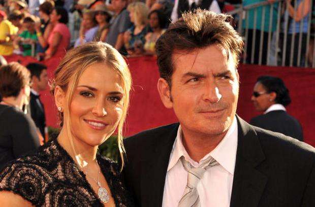 Actors Brooke Mueller and Charlie Sheen