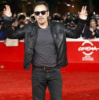 Bruce Springsteen made an appearance on the red carpet at the Rome Fim Festival