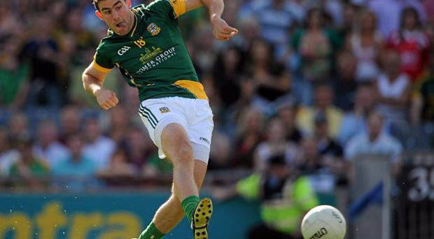 In the Leinster semi-final Brian Farrell scores the fifth goal as Meath defeat Dublin for the first time in the championship since 2001. A Leinster final awaits and the emphatic victory has Royal fans dreaming of a return to the glory days.
