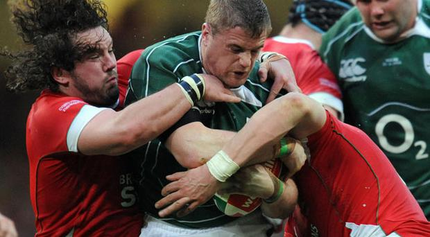 Jamie Heaslip shows the strength and power which makes him a key player. Photo: Getty Images