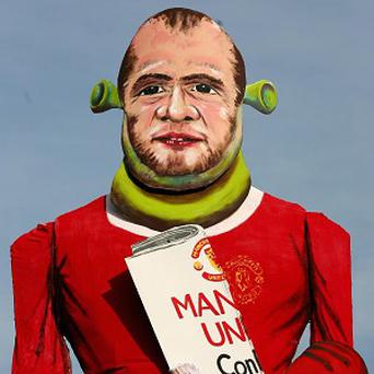 Effigy of scandal-hit striker Wayne Rooney will go up in flames on a bonfire