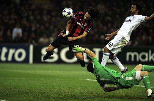 Filippo Inzaghi scored in last night match against Real. Photo: Getty Images