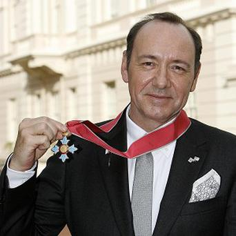 Kevin Spacey has been honoured for his services to drama