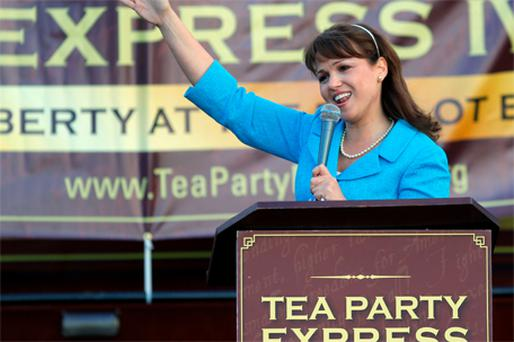 Christine O'Donnell of the Tea Party, who failed to get elected as a US senator for Delaware