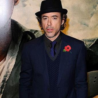 Robert Downey Jr arrives for the European Premiere of Due Date at London's Empire Leicester Square