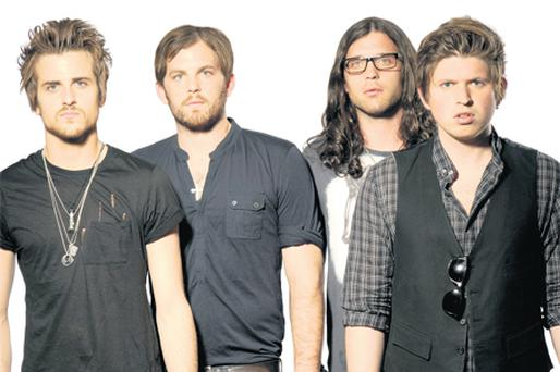 FAMILY BUSINESS: Kings of Leon, from left, Nathan, Matthew, Caleb and Jared Followill