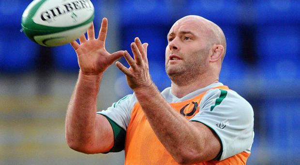 John Hayes is in line for a return to the Ireland front row against Samoa on Saturday.