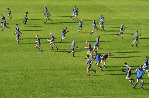Tipperary players go through their paces during training prior to their All-Ireland final victory over Kilkenny.