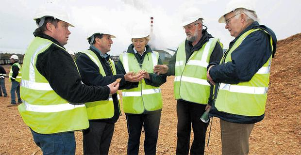 Farmers attend the Bord na Mona biomass open day held at the Edenderry Power Station, Co Offaly