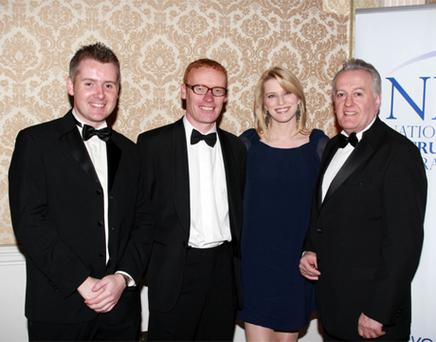 Shane McGourty (LoadzaJobs), Colin Donnery (NRF), Pamela Flood (MC) and Mark Fielding (ISME)