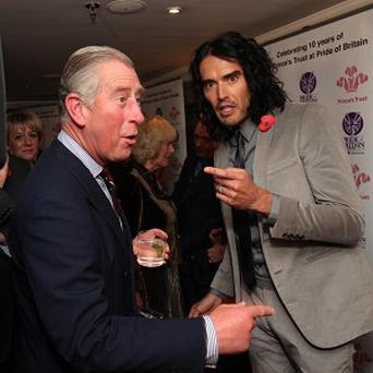 Prince Charles meets Russell Brand at the 2010 Pride of Britain Awards
