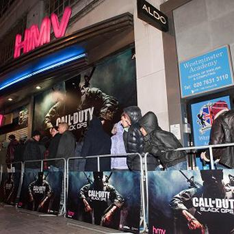 Gaming fans queued all night in London to get their hands on Call of Duty: Black Ops earlier this week
