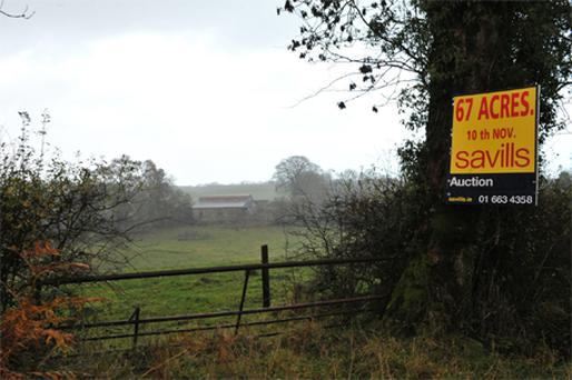 George Beggan's land at Crossakiel near Kells in Co Meath, which failed to sell at an auction held by an ACC Bank receiver