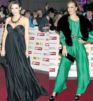 From left: Dannii Minogue and Tara Palmer-Tomkinson