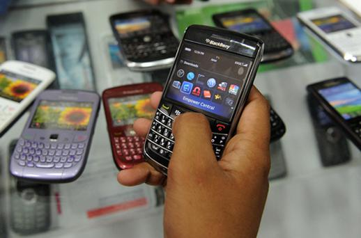Blackberry: losing market share to rivals. Photo: Bloomberg News