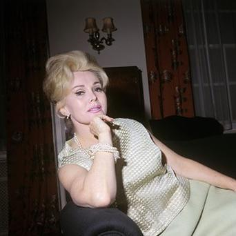 Film star Zsa Zsa Gabor, pictured in London in 1966, has been admitted to hospital in LA