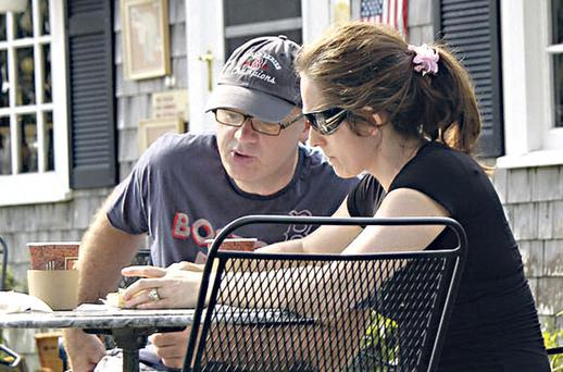 David Drumm, former chief executive of Anglo Irish Bank, and his wife, Lorraine, pictured in Cape Cod in the United States.