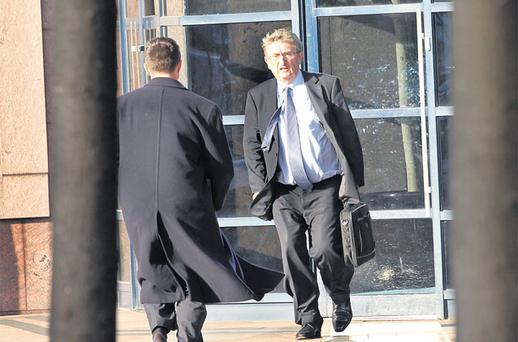 STAGGERING LOSS: Bernard McNamara leaving Nama's office in Dublin's Treasury Buildings last Thursday. Photo: Tony Gavin