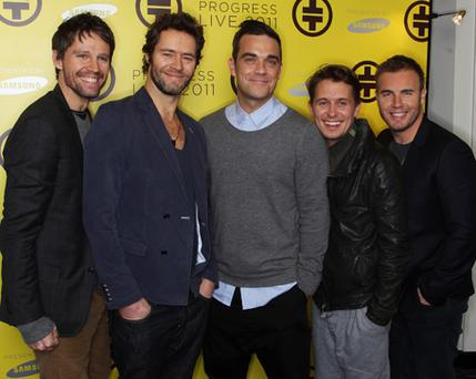 Take That's latest album has been tipped for Christmas number one. Photo: Getty Images