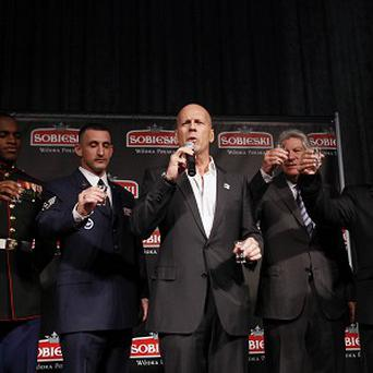 Bruce Willis threw a party for US war veterans