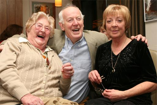 Moira Deady with Tom Hickey (Benjy in 'The Riordans') and Biddy White Lennon (Maggie) in 2009