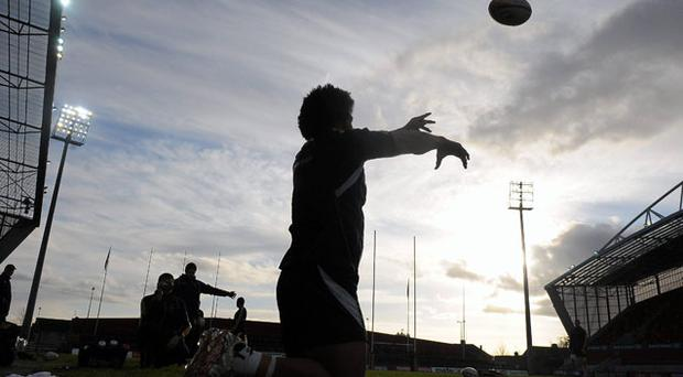 Australia's Tatafu Polota-Nau practises his line-out throws during training ahead of their match against Munster tonight at Thomond Park. Photo: Diarmuid Greene / Sportsfile