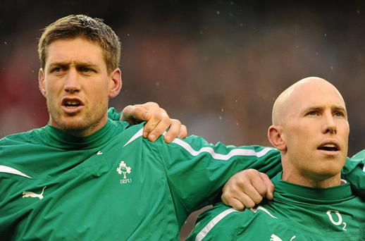 Ireland coach Declan Kidney may decide to go with the tried-and-trusted Ronan O'Gara-Peter Stringer partnership against New Zealand. Photo: Stephen McCarthy / Sportsfile