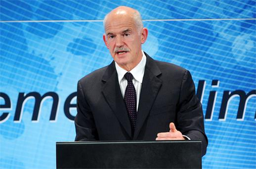 Greek Prime Minister George Papandreou said Germany's insistence on a future mechanism for banks and bond markets to share the pain of any eurozone sovereign debt default from 2013 could seriously damage some EU economies. Photo: Bloomberg News