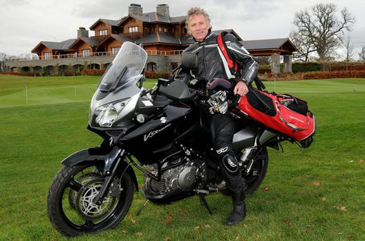 Former world 5,000 metres champion Eamonn Coghlan prepares to zoom into office as captain of Luttrellstown GC for 2011. Photo: Ronan Quinlan