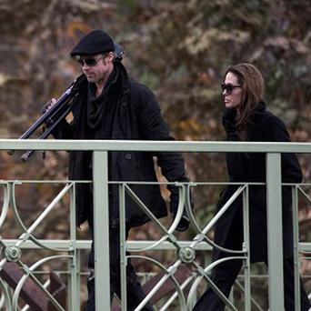 Brad Pitt has been spotted on the set of Angelina Jolie's film