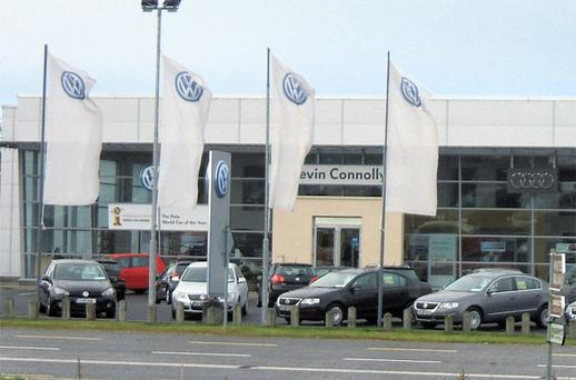 The showroom in Kevin Connolly Car Sales in Ballina was clean, bright and really well cared for, while the customer waiting area had all mod cons.