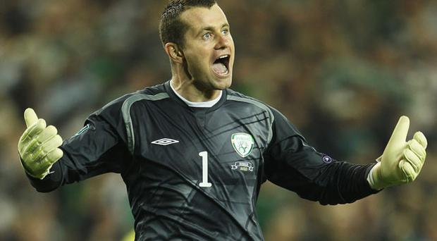 Frustrated: Shay Given. Photo: Getty Images